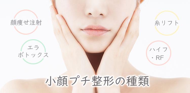 小顔プチ整形の種類〜顔痩せ注射・エラボトックス・糸リフト・ハイフ・RF